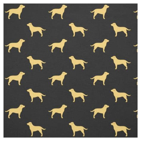 pattern making lab yellow labrador retriever silhouettes pattern fabric zazzle