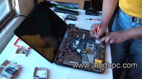 como desarmar desmontar abrir una laptop toshiba satellite