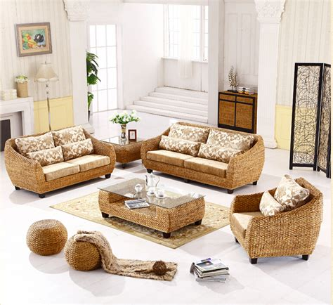 2016 New Design Fashion Leisure Handmade Rattan Sofa Handmade Living Room Furniture