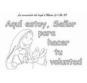 Educar Con Jes&250s Aqu&237 Estoy Se&241or La Anunciaci&243n