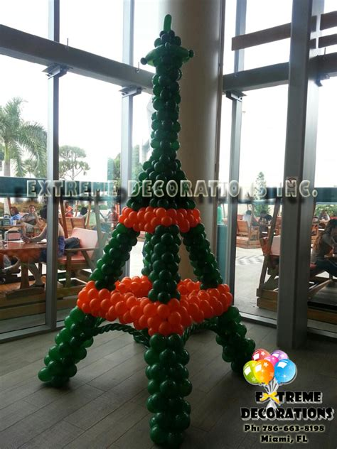 Eiffel tower balloon sculpture decoracion de globos party pinterest balloon tower and