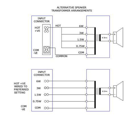 100v speaker wiring diagram