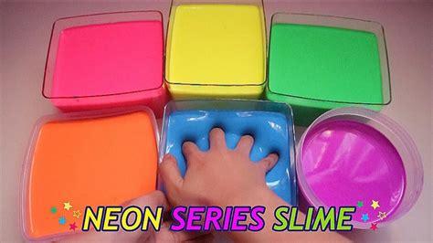 cara membuat slime ria yaya riya enakeun bgt parahhh glossyyy neon series slime easy good