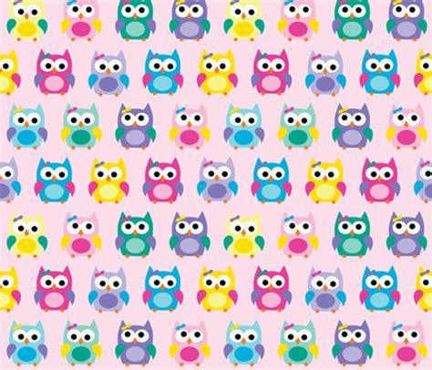 girly owl wallpaper girly owls on pink fabric littlebdesigns spoonflower