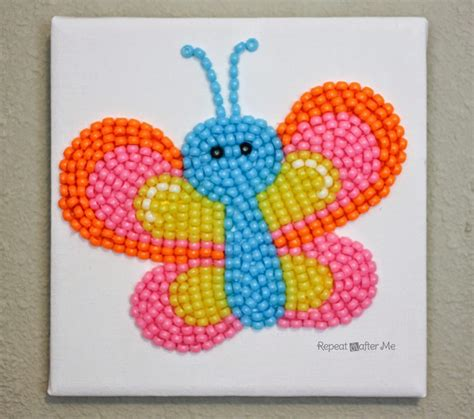 bead crafts for pony bead butterfly repeat crafter me