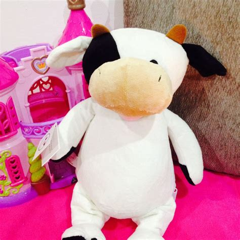 personalised soft toy animal cubbie cow