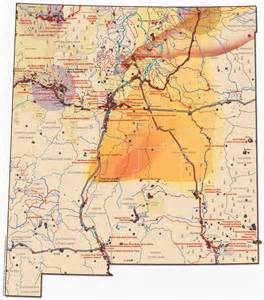 large map of new mexico water air land a sacred trust
