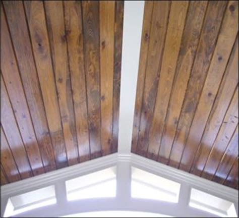 car siding ceiling stained car siding on ceiling for the home