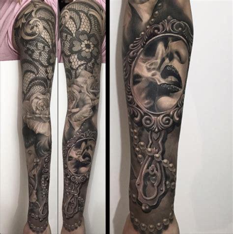 black and grey nature tattoo sleeve feminine sleeve tattoo tumblr