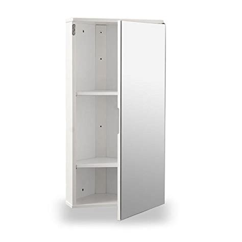 Corner Mirrored Bathroom Cabinets by White Gloss Wall Hung Corner Bathroom Cabinet With Single