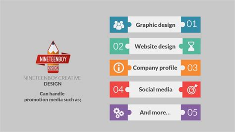 design company profile exles company profile sle nineteenboy creative design youtube