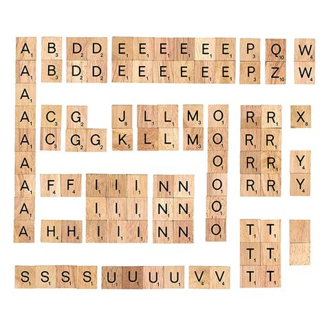 scrabble letter values 100pcs polished wooden scrabble tiles letter alphabet 1615