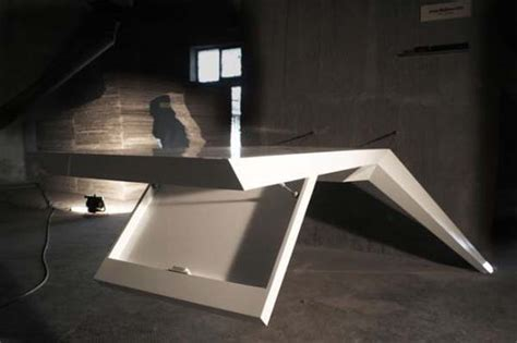 futuristic desks futuristic desk that seems to be levitating