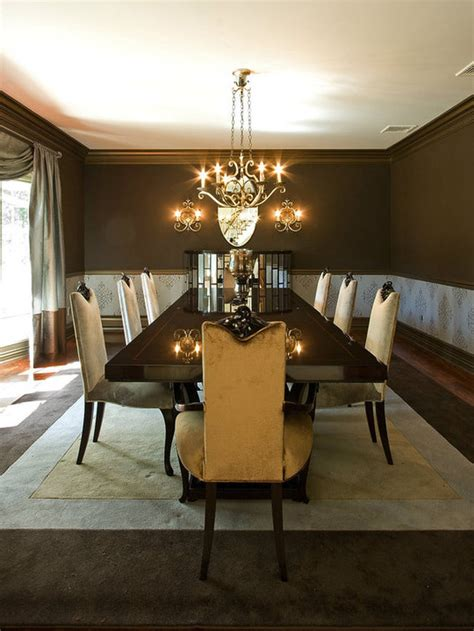 brown dining room transitional dining room photos hgtv