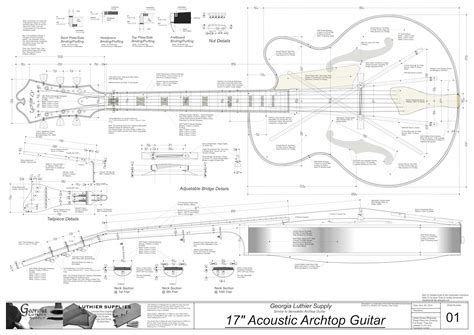 Electric Acoustic Guitar Plans | benedetto 17 archtop guitar plans electronic version