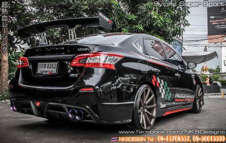 nissan sylphy nismo ช ดแต ง nissan sylphy nismo super sport