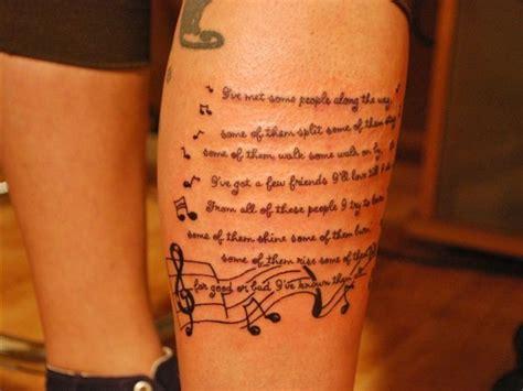 lyrics tattoo on side lyrics tattoo music ideas sleeve tattoos pinterest