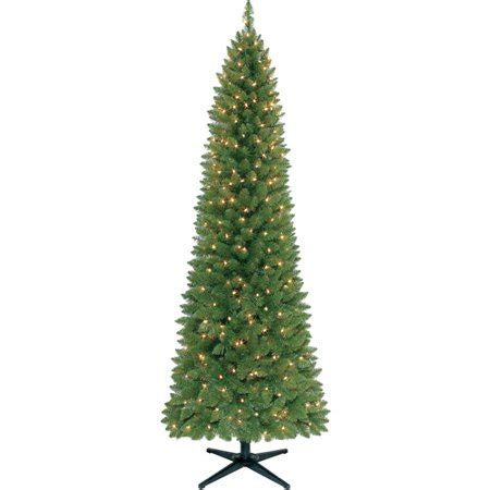 walmart pencil christmas trees artificial time pre lit 7 brinkley pine pencil artificial tree clear lights walmart