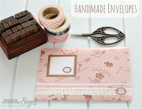 Handmade Envelop - handmade envelopes a spoonful of sugar