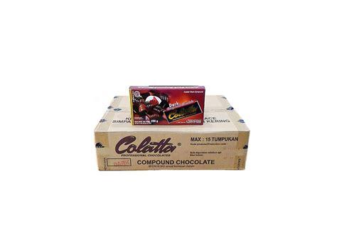 Colatta Chocolate 250 Gr Cokelat Hitam Compound jual colatta 24 x 250 gr murah harga grosir tokowahab