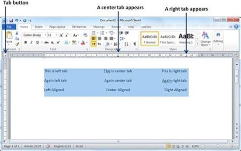 how to make proper chords set tabs in word 2010