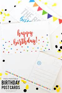 free birthday cards for printing at home free printable birthday postcards i nap time