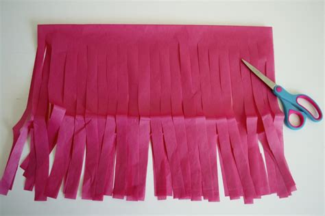 How To Make Tissue Paper Garland - tissue paper garland step by step how to