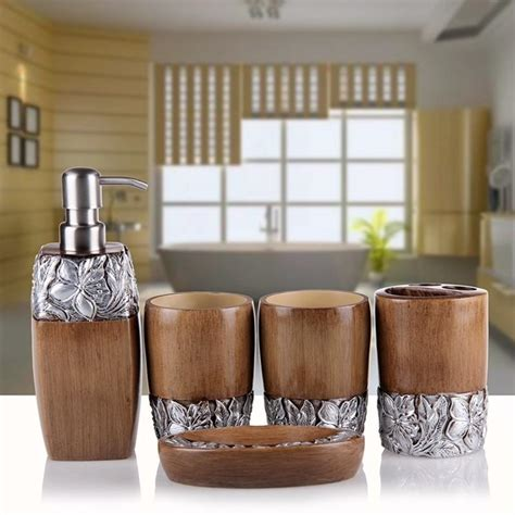 luxury bathroom accessories set five pieces fangmu