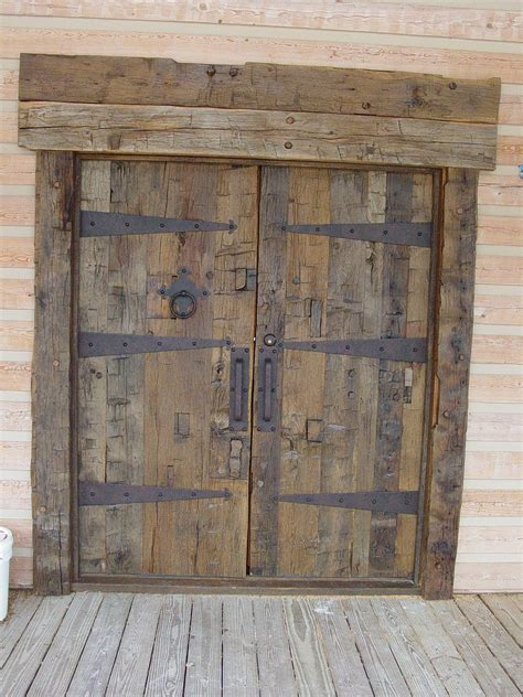 Rustic Front Doors For Homes Excellent Barnwood Swing Rustic Doors As Decorate Absolete House Facade Ideas Rustic