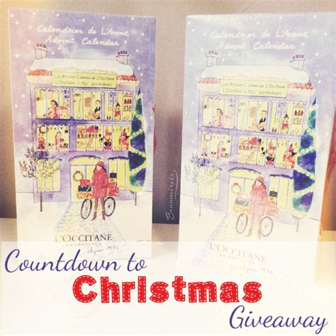 Countdown To Christmas Sweepstakes - countdown to christmas giveaway l occitane advent calendar beaumiroir