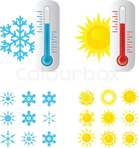 Graphic Design Degree From Home by Thermometer And Cold Temperature Stock Vector