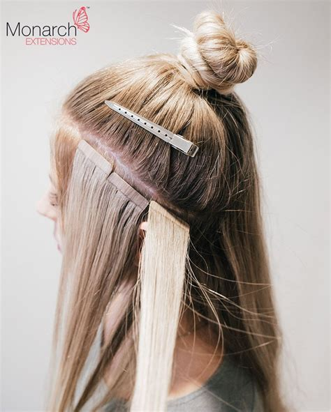 are tape extensions good for updos monarch extensions top knot tape in method diagonal back