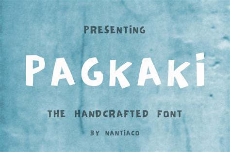 Handcrafted Font - pagkaki handcrafted font font display font