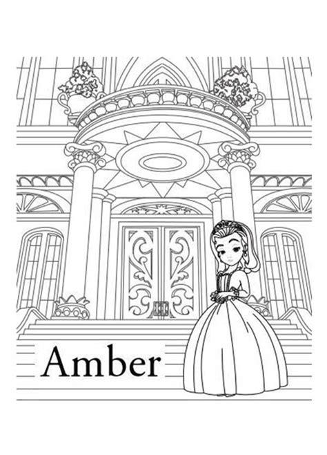 beautiful princess amber  sofia   coloring page