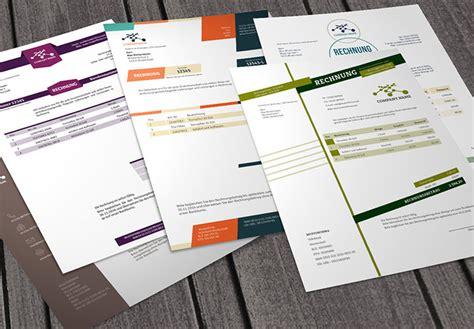 Moderne Rechnungsvorlage Vorlagen F 252 R Inserate Und Stellenanzeigen Psd Tutorials De Shop