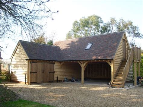 l shaped house with garage bespoke l shaped oak garage home pinterest bespoke