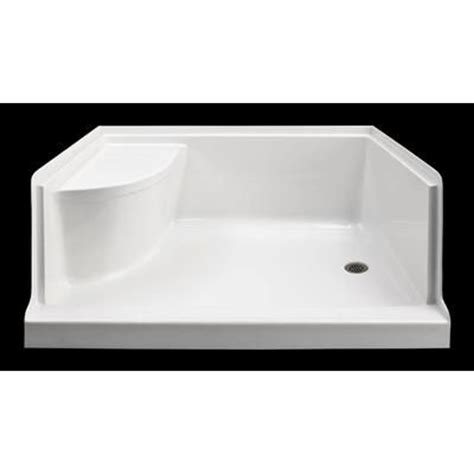 Home Depot Shower Base by Mirolin Ellis 60 Xl Acrylic Shower Base With Seat Right
