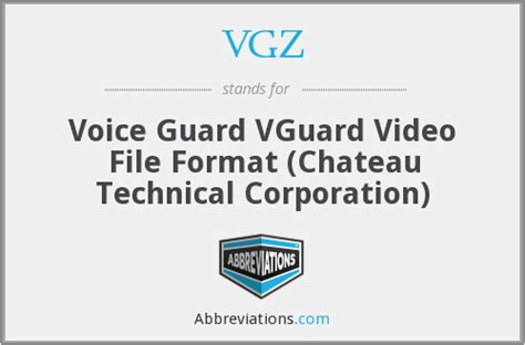 video file format abbreviations vgz voice guard vguard video file format chateau