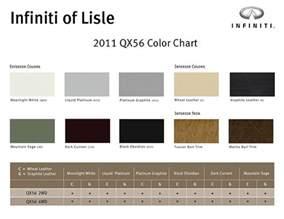 Infiniti Of Lisle 2011 Infiniti Qx56 Color Chart Infiniti Of Lisle Is