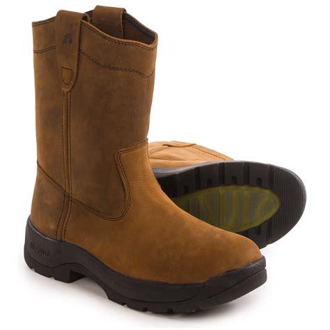comfortable steel toe boots for men lacrosse quad comfort 11 wellington work boots for men