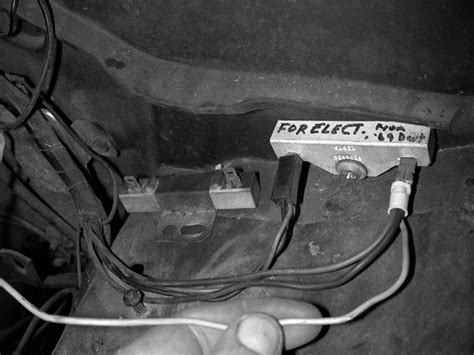 ballast resistor with electronic ignition 301 moved permanently