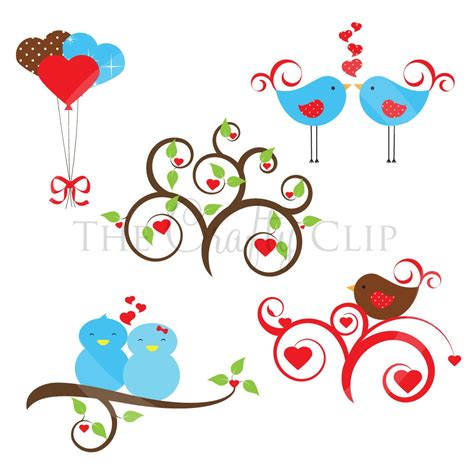 sweet bird and tree clipart set with cute little owl love birds clipart clipart panda free clipart images