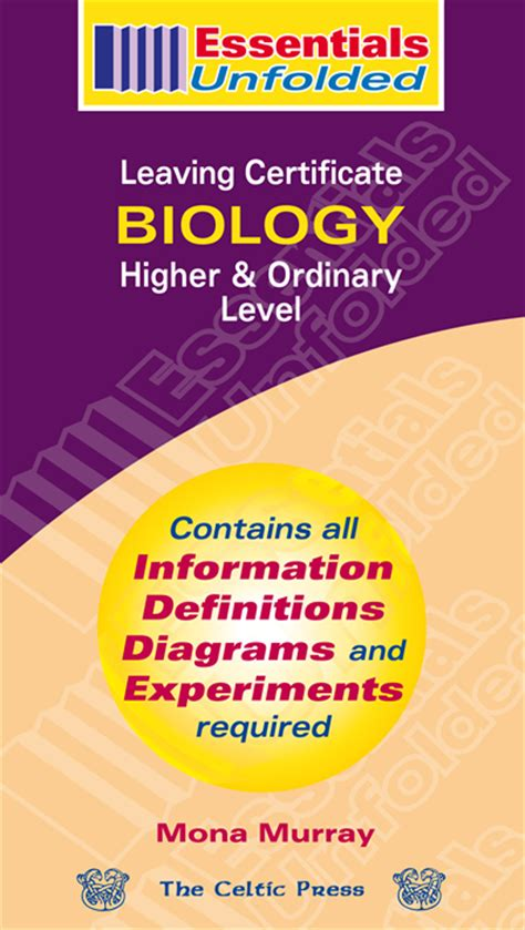 Essential Secondary Higher Revision 2a quot biology leaving certificate higher ordinary level