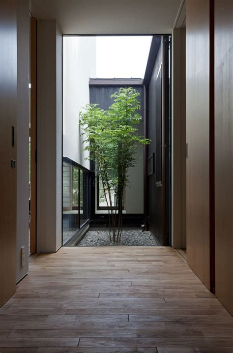 home design interior courtyard compact wooden home with japanese details for young