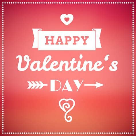 happy valentines day card design vector stock vector