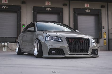 Audi A3 8p T R by Stanced Out Bagged Up Audi A3 Sportback 8p With Bbs Rs