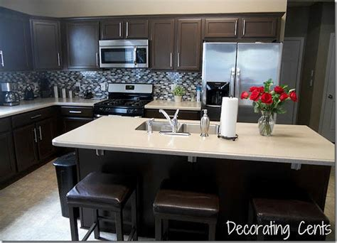 dark colored cabinets in kitchen remodelaholic sleek dark chocolate painted cabinets