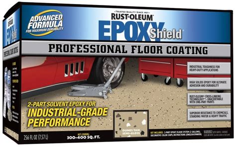 1 Part Epoxy Commercial Garage Floor Paint Ratings - rust oleum rust oleum 238466 professional floor coating