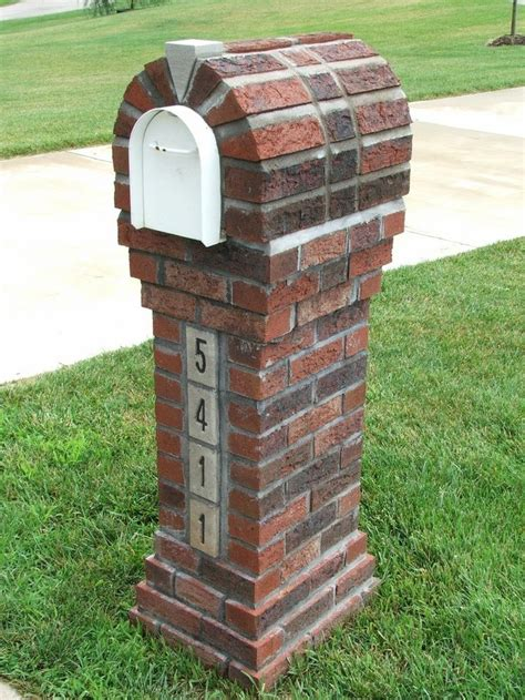 how to decorate a square brick mailbox for christmas brick mailbox designs plans various optional features of brick mailbox designs home design