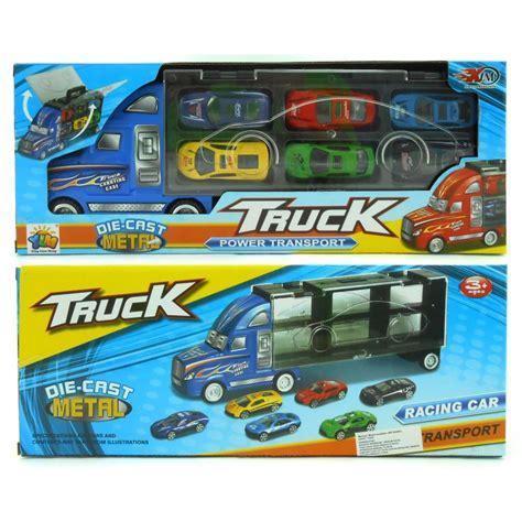 Mainan Mobil Racing Car Die Cast With Truck die cast metal truck power transport happy toko mainan jual mainan anak